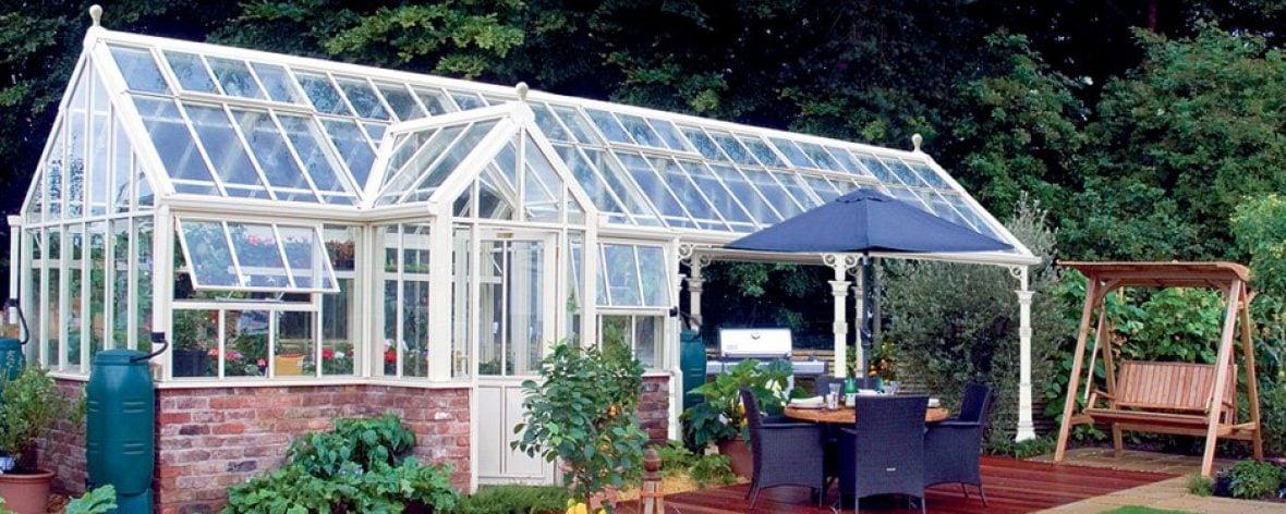 A White Hartley Botanic Architectural Range Glasshouse
