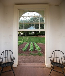 View of the garden from inside Monticello