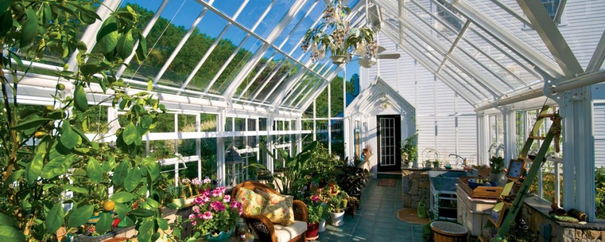 Large botanical conservatory in Amercia