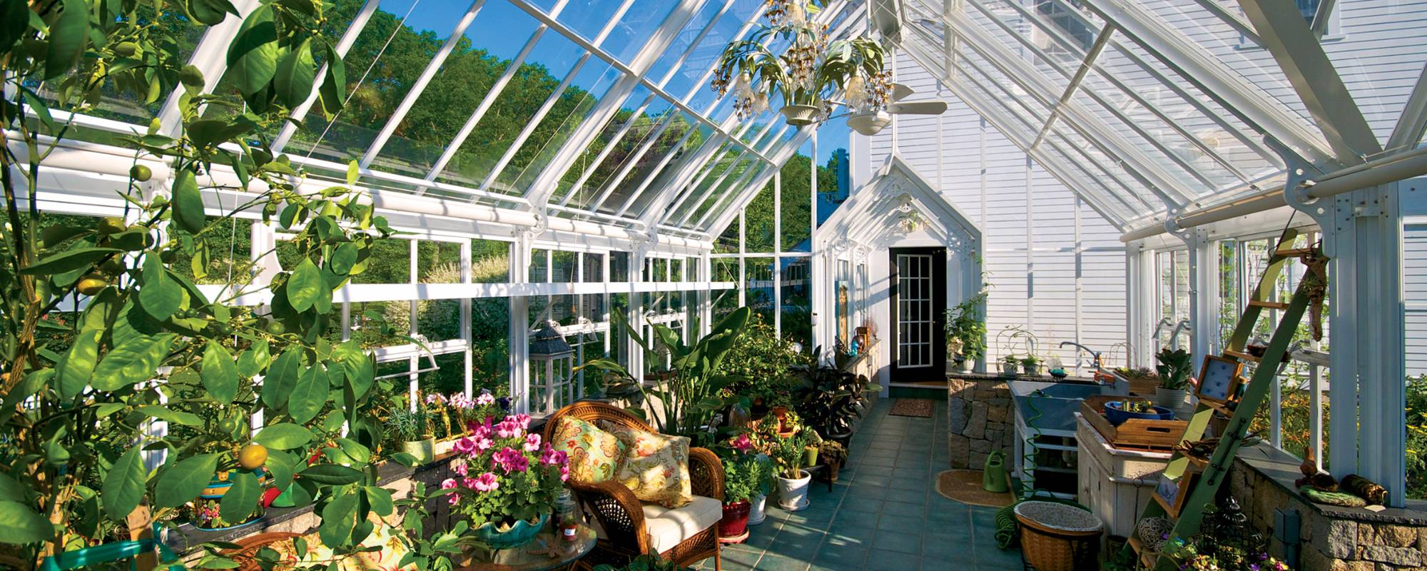 Abutting Greenhouse Example 5 Hartley Botanic